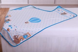 Dětská dečka - Modré sovičky 90x135 cm