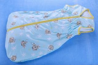 Dětský pytlík na spaní letní 80 - 150 cm/medvídek modrý