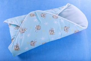 Rychlozavinovačka dráček pro miminka - medvídci modří /80x80 cm