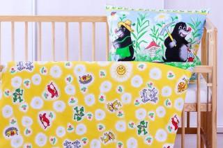 Povlečení do dětské postýlky - Krtek bavlna 135x90/60x45 cm