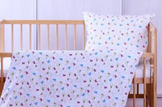 Povlečení do dětské postýlky - Autíčka 135x90/60x45 cm bavlna