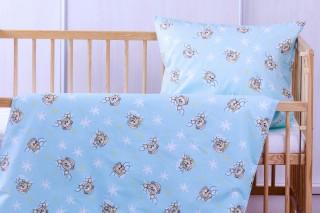 Povlečení do postýlky - medvídek modrý 135x90/60x45 cm bavlna