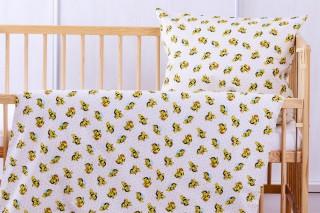 Povlečení do dětské postýlky - Včeličky 135x90/60x45 cm bavlna