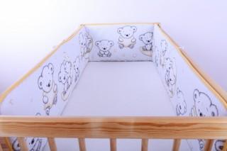 Mantinel - nárazníček dětský do postýlky 3 strany/medvídek na měsíci velký