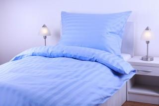 Damaškové povlečení - modrý proužek 2cm
