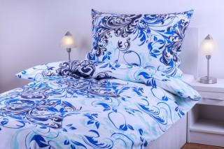 Bavlněné povlečení - modrý ornament