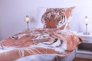 Bavlněné povlečení tygr 135x200/70x90 cm