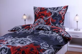 Bavlněné povlečení - ornament černočervený