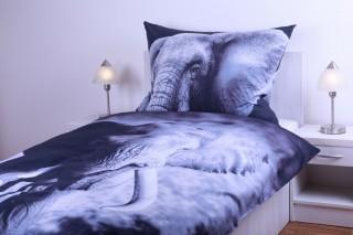 Ložní povlečení bavlna - slon 135x200, 70x90 cm
