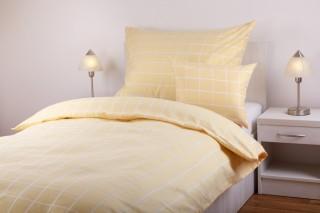 Ložní souprava bavlna/polyester - kostka žlutá