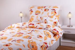 Bavlněné povlečení - oranžové květy