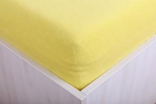 Dětské froté prostěradlo do postýlky citronové 60x120 cm