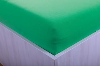 Prostěradlo jersey zelená 90x200 cm