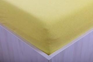 Prostěradlo froté žluté 90, 140, 160, 180 x 200 cm