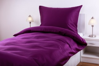 Povlečení bavlněný satén - fialová