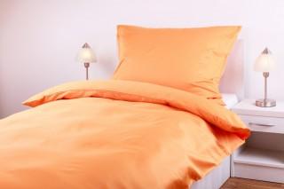 Povlečení bavlněný satén - oranžová