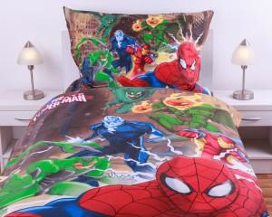 Bavlněné povlečení - Spiderman brown