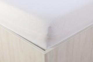 Prostěradlo jersey s lycrou bílé 90, 180x200 cm