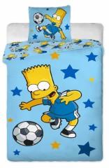 Bavlněné povlečení - Bart s míčem/modré