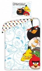 Bavlněné povlečení - Angry Birds po stranách