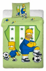 Bavlněné povlečení - Bart a Homer s míčem