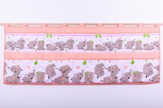 Kapsář za velkou postel 70x200cm - slůně růžové