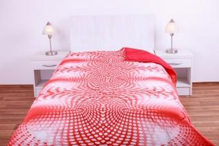 Prošívaná přikrývka (deka) umělé duté vlákno, 135x200cm vzor