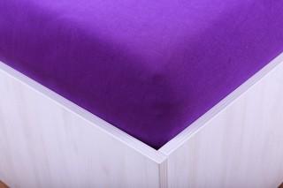 Prostěradlo jersey s lycrou fialové 90, 180x200 cm