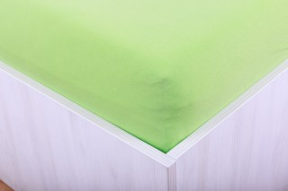Prostěradlo jersey s lycrou sv. zelené 90, 180x200 cm