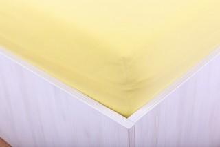 Prostěradlo jersey s lycrou žluté 90, 180x200 cm