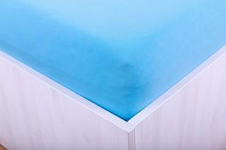 Prostěradlo jersey s lycrou modré 90, 180x200 cm