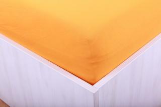 Prostěradlo jersey s lycrou oranžové 90, 180x200 cm