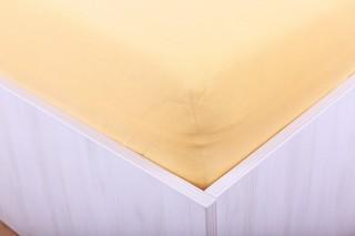 Prostěradlo jersey do dětské postýlky - oranžové 60x120 cm