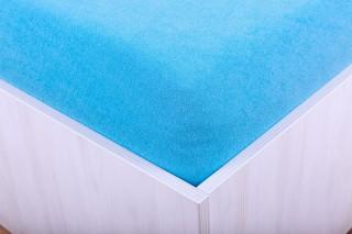 Prostěradlo froté modrotyrkysové 90, 140, 160, 180 x 200 cm