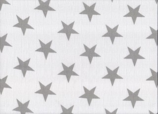 Plena látková 70x70cm, 5ks/bal - potisk šedé hvězdy
