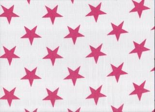 Plena látková 70x70 cm, 5ks/bal - potisk růž. hvězda