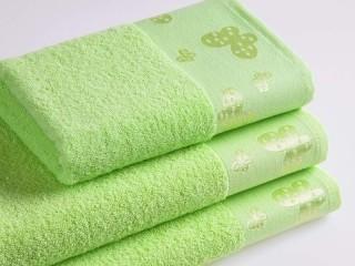Dětský froté ručník 50x30 cm - motýlci zelení