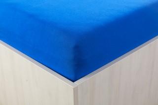 Prostěradlo jersey s lycrou královsky modré 90, 180x200 cm