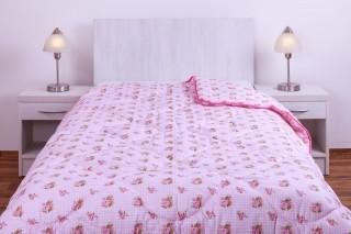 Prošívaná deka (přikrývka) umělé duté vlákno, 135x200cm vzor