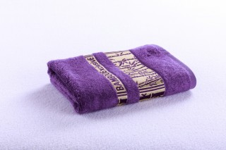 Bambusový ručník 50x90cm, gramáž 420g/m2 - Tmavě fialová