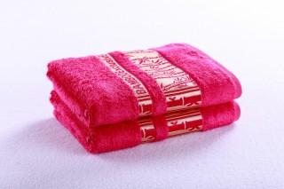 Bambusový ručník 50x90cm, gramáž 420g/m2 - Tm.růžová