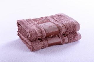 Bambusový ručník 50x90cm, gramáž 420g/m2 - Sv.hnědá