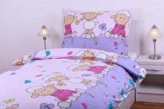 Bavlněné povlečení - ovečky - růžové