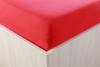 Prostěradlo jersey s lycrou červené 90,140,160,180x200 cm