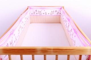 Mantinel - nárazníček dětský do postýlky 3 strany /zajíček na houpačce malý
