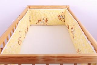 Mantinel - nárazníček dětský do postýlky 3 strany /pejsek žlutý